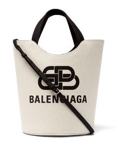 Wave logo-jacquard cotton-canvas tote bag