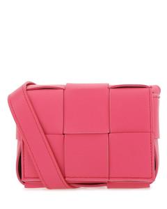 Fuchsia nappa leather Cassette crossbody bag