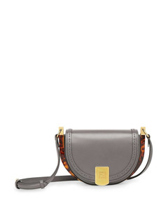 'MOONLIGHT' bag in grey leather