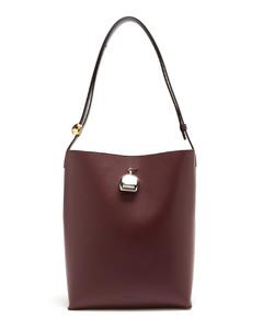 Perfume-charm medium leather tote bag