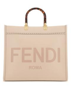Powder pink leather medium Sunshine handbag