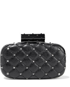 Garavani Woman Rockstud Spike Quilted Leather Clutch