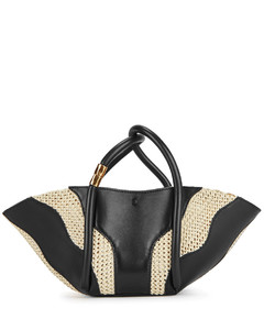 Lotus 12 leather top handle bag