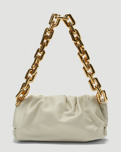 The Chain Pouch Bag in Beige