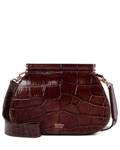 Sylvi Small croc-effect leather clutch