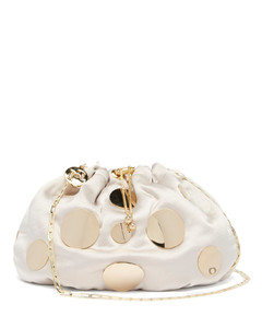 Fatale Pois mini satin cross-body bag
