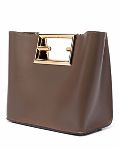 Leather small shopping bag