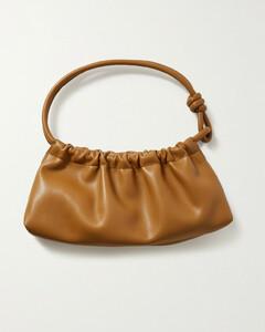 Valerie Ruched Vegan Leather Shoulder Bag