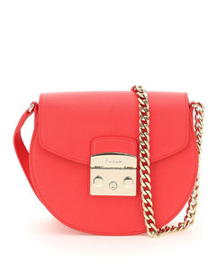 WOMEN'S 32154T207074 RED LEATHER SHOULDER BAG
