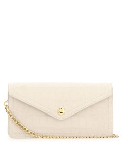 Ivory leather clutch