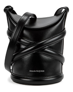The Curve small black leather cross-body bag