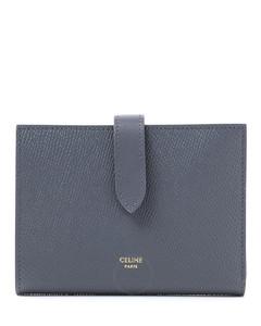 Medium Strap Wallet In Grained Calfskin