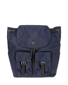 Bow detail nylon hobo bag