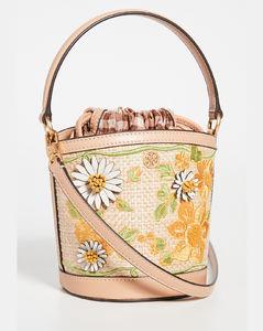 Robinson刺绣草编水桶包