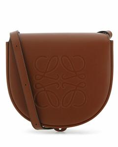 Caramel leather Heel Duo crossbody bag