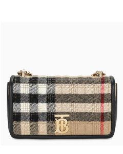 Small check cashmere Lola bag