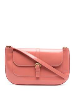 Burrow 22 black leather cross-body bag