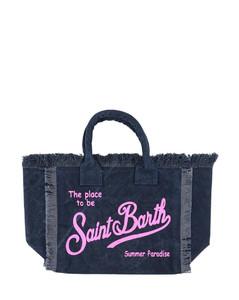 Leather belt bag with rhinestones