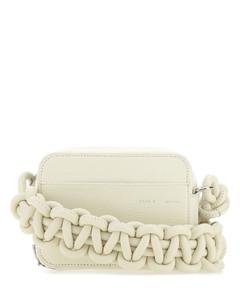 Ivory leather Cobra shoulder bag