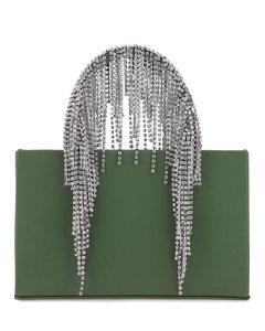 Dark green nappa leather medium Crystal handbag