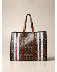 handbag in e-canvas with monogram print