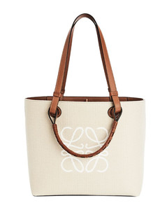 Small Leather Anagram Tote Bag