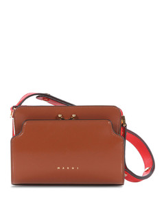 Trunk Reverse mini leather cross-body bag