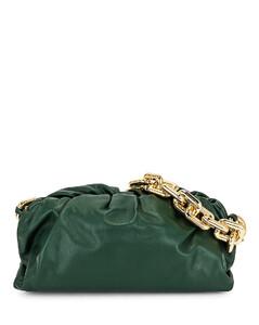 Raffia and leather shoulder bag