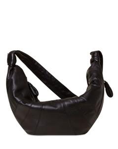 Large Croissant Leather Shoulder Bag