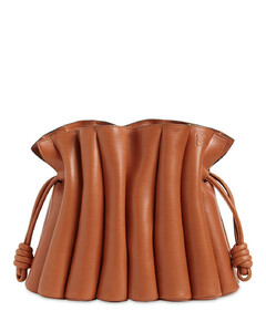 """flamenco Ondas""光滑皮革单肩包"