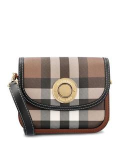 Pre-loved Dior 61 croc-embossed patent leather shoulder bag