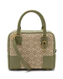 Amazona 19 anagram-jacquard canvas handbag