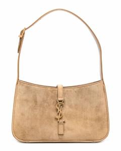 Half-Moon Saffiano leather shoulder bag