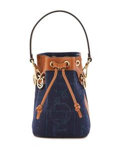 Ladies Mini Denim Mon Tresor Bucket Bag