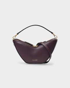 Mini Tulip Bag in Burgundy Smooth Leather