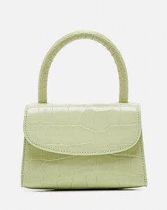Mini bag in crocodile print leather