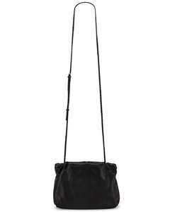 Bourse Grain Leather Clutch in Black