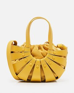 Hana calfskin and suede bag