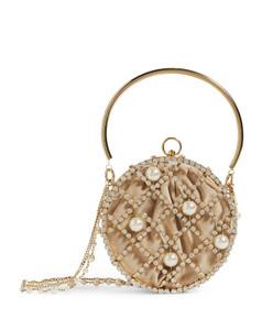 Crystal-Embellished Ines Cage Shoulder Bag