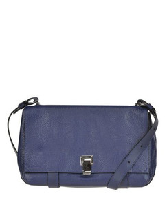 WOMEN'S MCGLBRE000006035IO BLUE LEATHER SHOULDER BAG
