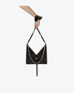 Black Cutout Chain Cross Body Bag