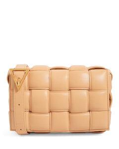 Leather Padded Cassette Cross-Body Bag