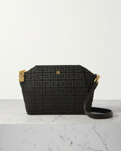 Carmen small color-block embossed leather belted satchel