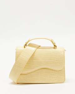 Carmen extra-small studded saffiano leather belted satchel