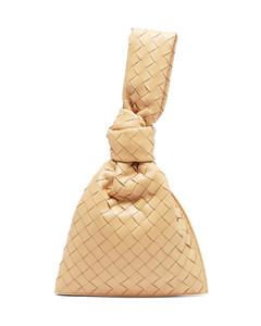 BV mini Twist knotted Intrecciato leather pouch