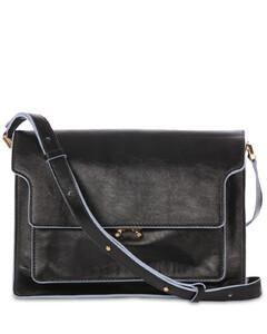 Large Trunk Soft Leather Shoulder Bag