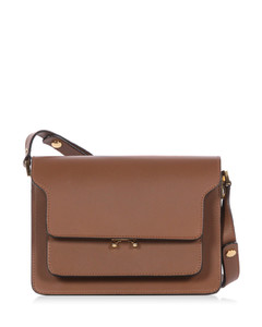 Trunk medium leather shoulder bag