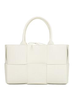 Small Arco Intreccio Leather Tote Bag