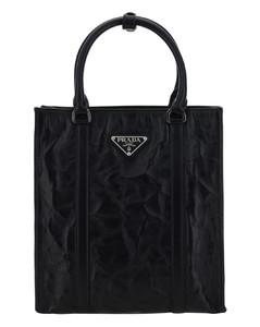 Black S Logo Bottle Slot Shoulder Bag