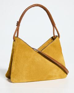 Women's Buoy Wicker Medium Bucket Bag - Green Multi